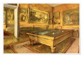 Poster  Billiard Room at Menil Hubert  - Edgar Degas