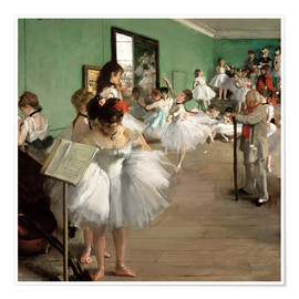 Premium poster  The Dance Class - Edgar Degas
