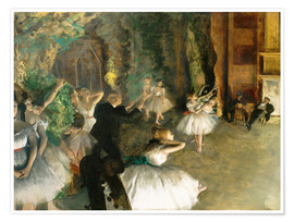 Premium poster  The Rehearsal of the Ballet Onstage - Edgar Degas