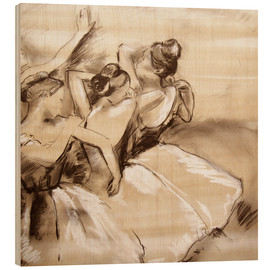 Wood print  dancers - Edgar Degas