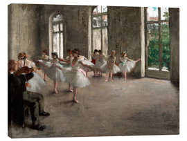 Canvas print  The rehearsal - Edgar Degas