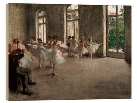 Wood  The rehearsal - Edgar Degas