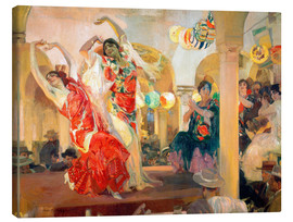 Canvas  Flamenco in the cafe Novedades - Joaquin Sorolla y Bastida
