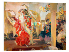 Foam board print  Flamenco in the cafe Novedades - Joaquin Sorolla y Bastida