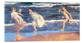 Acrylic print  Running Along the Beach - Joaquin Sorolla y Bastida