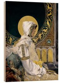 Wood print  Saint in prayer - Joaquin Sorolla y Bastida