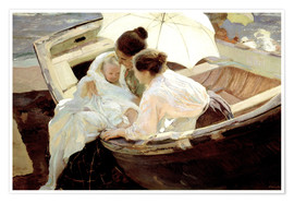 Premium poster  After the bath in the sea - Joaquín Sorolla y Bastida
