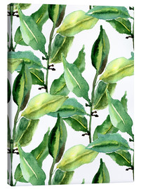 Canvas print  Leaves pattern