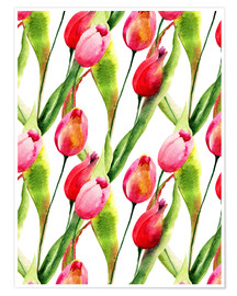 Poster  Tulips flowers