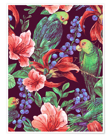 Poster Tropical floral bouquet