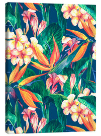 Canvas print  Exotic Flowers in Watercolor
