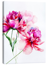 Canvas print  Beautiful peony flowers