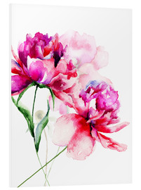 Foam board print  Beautiful peony flowers