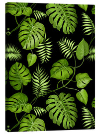 Canvas print  Monstera with palms