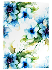 Summer flowers in blue