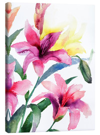Canvas print  Lilies in pink