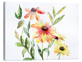 Canvas print  Flowers in Watercolor