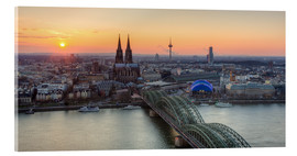 Acrylic glass  Panorama view of Cologne at sunset - Michael Valjak