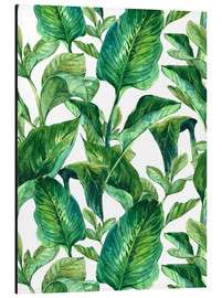 Alu-Dibond  Tropical Leaves in Watercolor