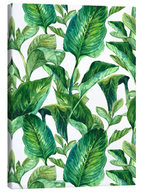 Canvas print  Tropical Leaves in Watercolor