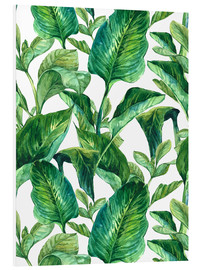 Foam board print  Tropical Leaves