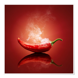 Premium poster Smoking chilli