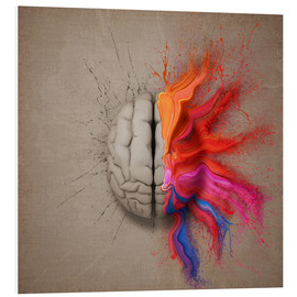 Foam board print  The creative mind - Johan Swanepoel