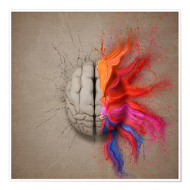 Premium poster  The creative mind - Johan Swanepoel