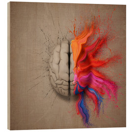 Wood print  The creative mind - Johan Swanepoel