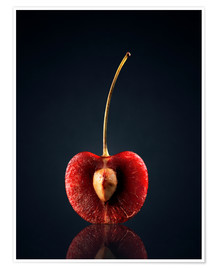 Premium poster The heart of the cherry