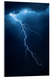 Acrylic print  Stormy clouds with flash of lightning - Johan Swanepoel
