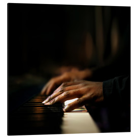 Aluminium print  Close-up of a pianist's hands playing the piano - Johan Swanepoel