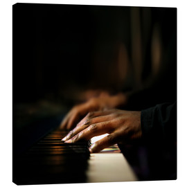 Canvas print  Close-up of a pianist's hands playing the piano - Johan Swanepoel
