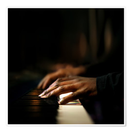 Premium poster  Close-up of a pianist's hands playing the piano - Johan Swanepoel
