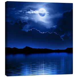 Canvas print  Fantasy moon and clouds over water - Johan Swanepoel