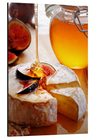 Aluminium print  Brie Cheese and Figs with honey - Johan Swanepoel