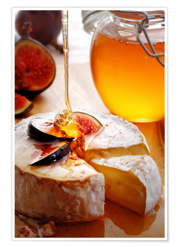 Premium poster Brie Cheese and Figs with honey