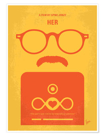 Poster No372 My HER minimal movie poster