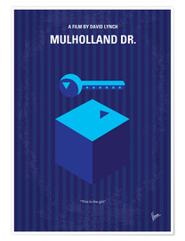 Poster No323 My MULHOLLAND DRIVE minimal movie poster