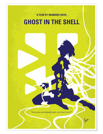 Premium poster No366 My Ghost in the Shell minimal movie poster