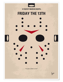 Premium poster No449 My Friday the 13th minimal movie poster