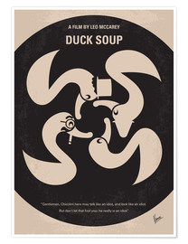 Poster  No370 My Duck Soup minimal movie poster - chungkong