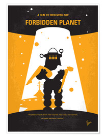Premium poster No415 My Forbidden Planet minimal movie poster
