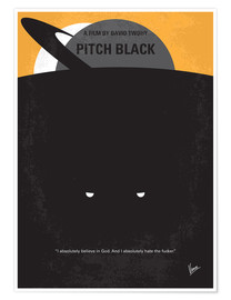 Premium poster No409 My Pitch Black minimal movie poster