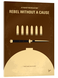 Acrylic glass  No318 My Rebel without a cause minimal movie poster - chungkong