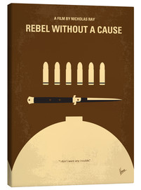 Canvas  No318 My Rebel without a cause minimal movie poster - chungkong