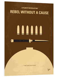 Foam board print  No318 My Rebel without a cause minimal movie poster - chungkong