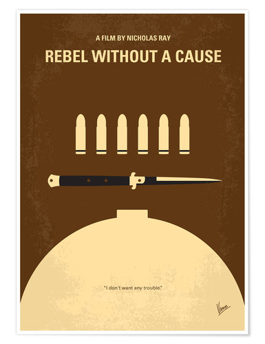 Premium poster No318 My Rebel without a cause minimal movie poster