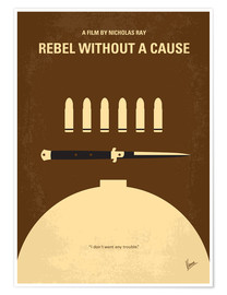 Premium poster  No318 My Rebel without a cause minimal movie poster - chungkong