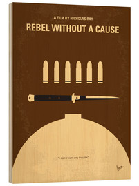 Wood print  Rebel Without A Cause - chungkong